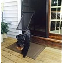 Security Boss Pet Screen Door   Medium   With Brace Bar   Bronze