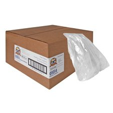 Genuine Joe Super Hexene Clear Trash Can Liners, 60 Gallons, 38