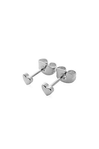 (HONEYCAT Tiny Heart Stud Earrings in Silver | Minimalist, Delicate Jewelry)