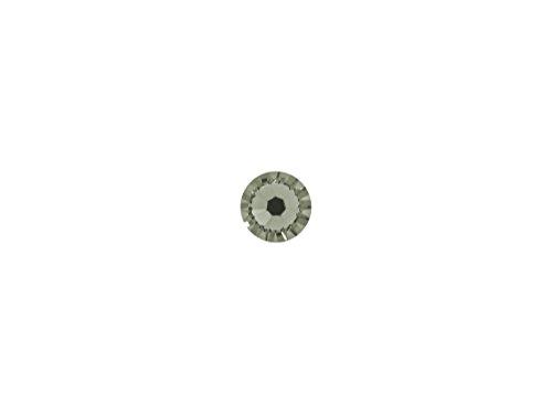 Swarovski 144 Count Wholesale 2028 Hotfix Flat Backs SS 34 Rhinestones - Black Diamond Factory Pack