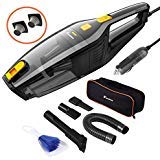 Foxnovo Car Vacuum Cleaner, DC 12V 120W High Power, Wet Dry Portable Handheld Auto Vacuum Cleaner for Car with 14.8ft Cable