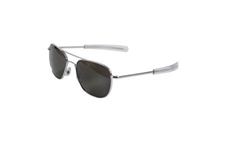 AO Eyewear 55mm Original Pilot Sunglass with Bayonet Temples (silver, - Sunglasses Ao 55mm