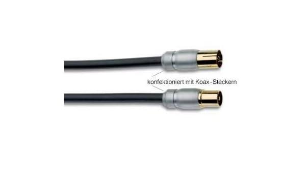 Inakustik Exzellenz HDTV Cable de antena coaxial-conectores montado con, longitud: 2,0 M: Amazon.es: Electrónica