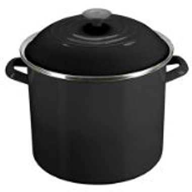 Le Creuset Enamel-On-Steel Covered Stockpot, 16-Quart, Flame