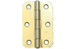 75mm 3'' No.1838R Light Butt Hinges - Radius Corners 1 Pair SELF COLOUR Perry Hinges