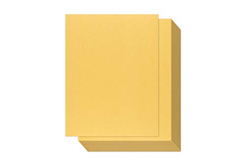 Gold Shimmer Paper - 100-Pack Metallic Cardstock Paper, 92 lb Cover, Double Sided, Printer Friendly - Perfect for Weddings, Birthdays, Craft Use, Letter Size Sheets, 8.5 x 11 Inches ()