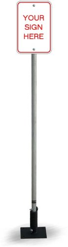 - 6' Galvanized Replacement Post for the FlexPost sign post system.