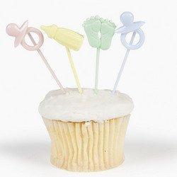 Fun Express Baby Shower Cupcake Food Picks - 72 (Baby Topper)
