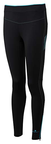 db02d5ea4ea74 Ron Hill Women's Stride Stretch Tights, Black/Peacock, 8