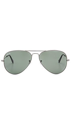 Ray-Ban Classic Aviator Sunglasses, Gunmetal/Green Classic by Ray-Ban (Image #3)