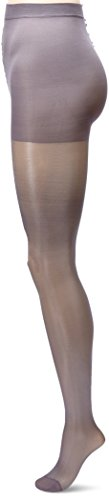 Berkshire Sheer Silky Queen (Berkshire Shimmers Semi Sheer Opaque Control Top Tights (Steel, Queen))