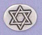Estrella de David–para la vida: Ficha de bolsillo o novedad de la suerte moneda, una pulgada, hecho a mano estaño sin...