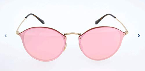 Ray-Ban RB3574N Blaze Round Sunglasses, Gold/Pink Mirror, 59 ()
