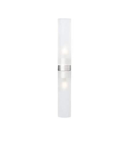 Lbl Lighting Twin Tube - LBL Lighting HBTWNTBFRBZ1B20MRL Vanity Lights with Frosted Glass Shades, Bronze