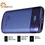 KUPPET 20000mAh Power Bank (Dual USB Port, 3.1A Total) External Portable Charger Battery Pack Portable Charger with LED Flashlight for iPhone 8/7,iPhone X,iPad Pro, Galaxy S8 Note8 and More