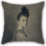 Beautifulseason Oil Painting Joaquim Espalter - Portrait Of A Lady Pillow Shams 16 X 16 Inches / 40 By 40 Cm Gift Or Decor For Study Room,couch,festival,monther,saloon,wife - Twin Sides (Shark Tank Products Corduroy compare prices)