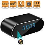 Hidden Camera, WiFi Mini Spy Camera Clock IP Surveillance Camera Wireless HD1080P Nanny Cam with 140°Angle Night Vision Motion Detection for Home Security Monitor Video Recorder(No Audio)