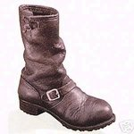 - Just the Right Shoe Motorcycle Boot Mint in Box Porcelain Shoe