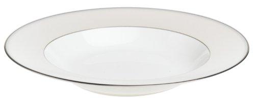 Nikko Ceramics Natural Pearl 9-1/2-Inch Rim Soup/Pasta Plate ()