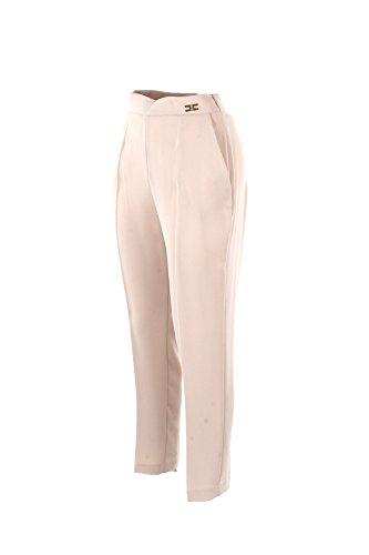 Pantalone Donna Elisabetta Franchi Essential 42 Vaniglia Pa11981e2 Primavera Estate 2018