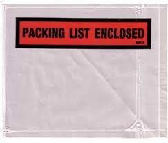 Laddawn Packing List Envelopes, Packing List Enclosed, Medium Print, 7 X 5 1/2, 1000/Case