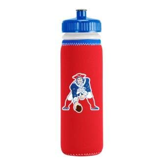 Nfl Bottle Water - Kolder New England Patriots Throwback 22 Ounce Red Neoprene Sleeve Squeezable Water Bottle