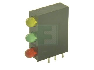 LUMEX SSF-LXH340YGID Yellow/Green/Red 3 mm 60° Diffused 30/40/40 mcd LED Fault Indicator - T-1 - 1000 item(s) by Lumex