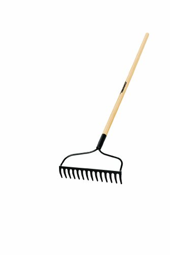 Truper 31353 Tru Built 48-Inch 14 Teeth Welded Bow Rake, Wood Handle by Truper