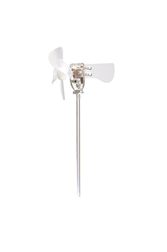 (QIAOYUAN Mini Flashing Windmill, LED Windmill, with The World' Small Wind Turbine, Windmill Generator for Educational Teaching or Ornaments, Shining for Fun, Meaningful Gift for Kids)