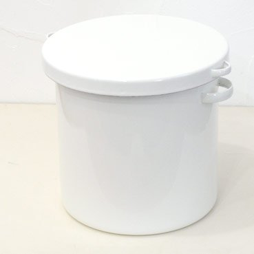 野田琺瑯 ラウンド ライスストッカー7L (米びつ5kg用) B00HW1O8N0