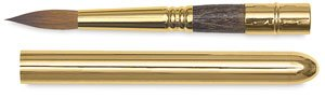 Escoda Reserva 1214 Watercolor & Acrylic Kolinsky-Tajmyr Sable Paint Brush Travel Round; Size 12