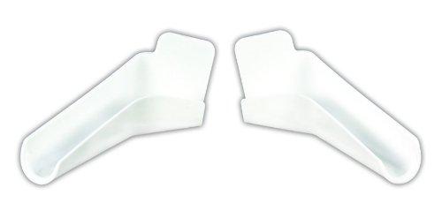 JR Products 655-FLEX-PW-A Polar White Flexible Extended Rain Gutter Spout