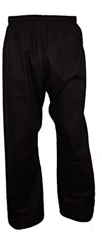 Tokyodo Karate & Taekwondo Trouser/Pants 8 Oz, Medium Weight (Black, 2/150) ()
