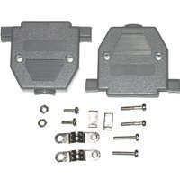 Pc Accessories- Connectors Pro Gray Plastic Hood for DB-25 Pin Connectors, Short Screws, 5-Pack