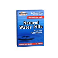 Sundown Naturals Natural Water Pills 60 Tablets (Pack of 2)