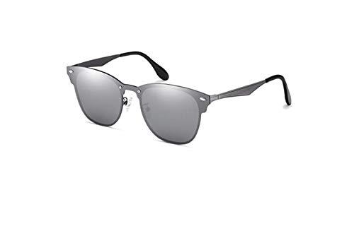 Gris para Gafas Sol Cuadros Color Espejo diseño conducción de con liwenjun de w6TXPqq