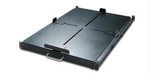 APC AR8128BLK Schneider Electric Sliding Shelf 200lbs/91kg Black - 1U Wide Rack-mountable - Black - 200.42 lb x Static/Stationary Weight Capacity by APC