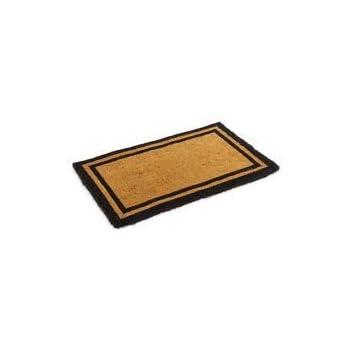 Natural Coco Coir Door Mat With Black Border, Heavy Duty Coir Doormat  Welcome Mat Front
