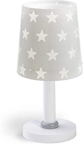 Dalber Stars Nachtkastlamp grijs