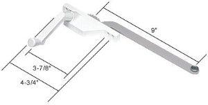 (CRL White Lt. Hand Casement Window Operator Face Mount w/ 9