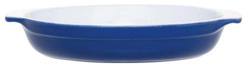 Emile Henry 10.75 Inch Oval Gratin Dish, Azur