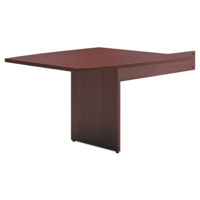 BL Laminate Series Boat-Shaped Modular Table End, 48 x 44 x 29 1/2, Mahogany, Sold as 1 Each