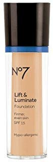 Boots No7 Lift & Luminate Foundation SPF 15 Honey - 1oz Honey (No 7 Lift And Luminate Foundation Honey)
