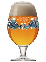 New Belgium Brewery Globe Glass -2015 Artisan Series Limited Edition (Brewery Beer Glasses)