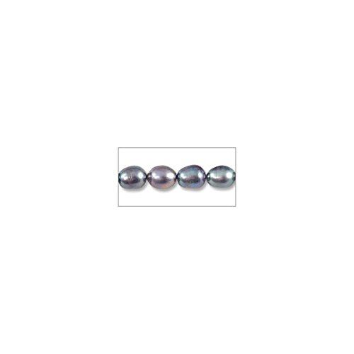 - Freshwater Rice Pearl Peacock Grey 7-8mm (16