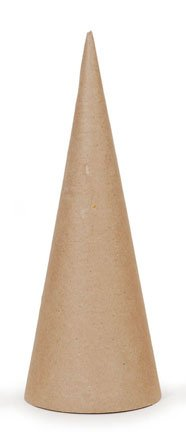 Paper Mache Open Bottom Cone 10.63 x 4 in - Package of 12 by Darice