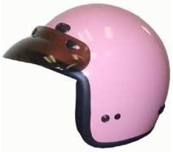 DOT Women's Pink 3/4 Three Quarter Open Face Motorcycle Helmet with Visor (Size XL, X-Large)