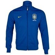 Brazil Soccer Blue Nike Authentic N98 Jacket by Nike