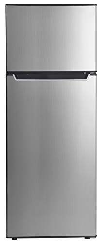 Danby Energy Star 7.3-Cu. Ft. Apartment Size Refrigerator with Top-Mount Freezer in Spotless Steel/Black (Top Refrigerator Door Freezer Hinge)