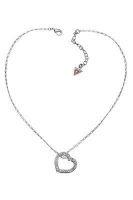 - Guess UBN81012 Ladies FLAT OPEN PAVE HEART Pendant